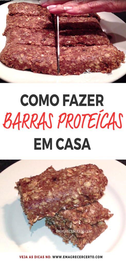 Como Fazer Barras De Proteína Caseira Sem Cozinhar   Blog EmagrecerCerto.com