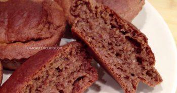muffins de banana com canela Emagrecer Certo