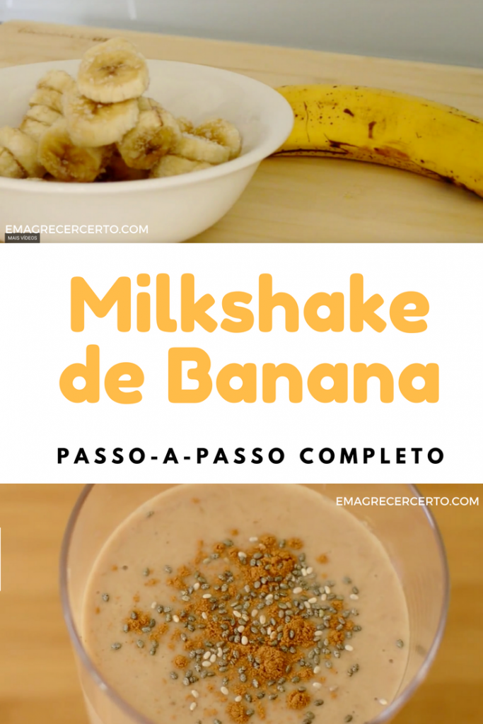 Milkshake de Banana com Whey Protein - Emagrecer Certo
