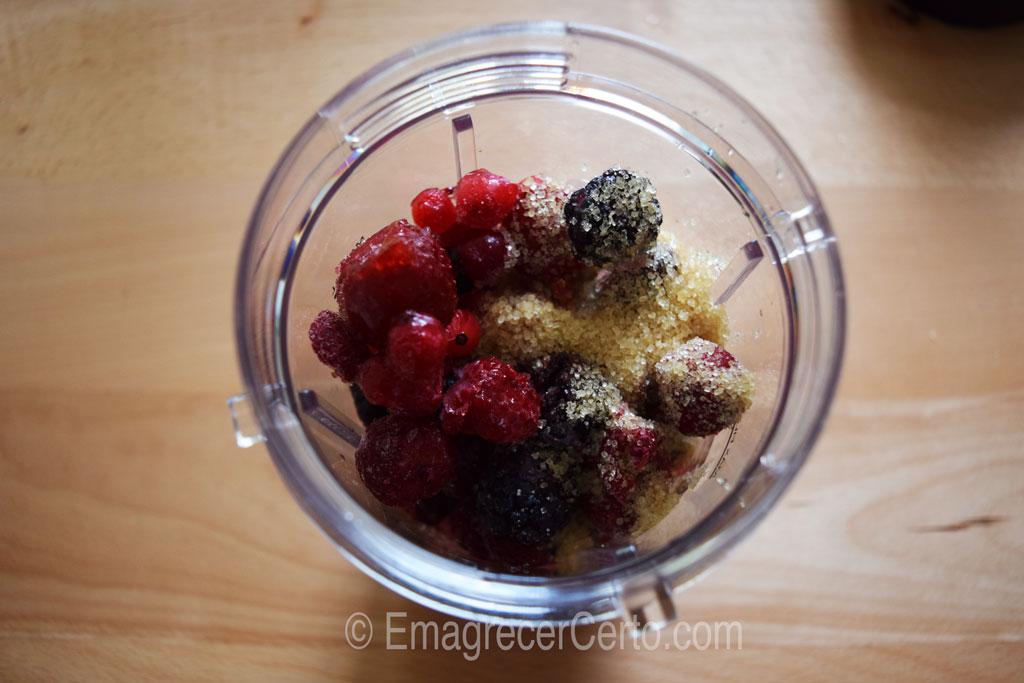 sorbet rico em antioxidante