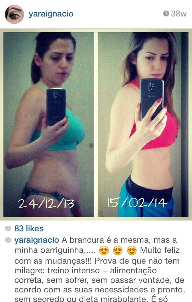 Instagram antes e depois