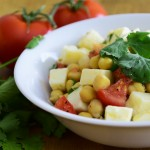salada de grao de bico