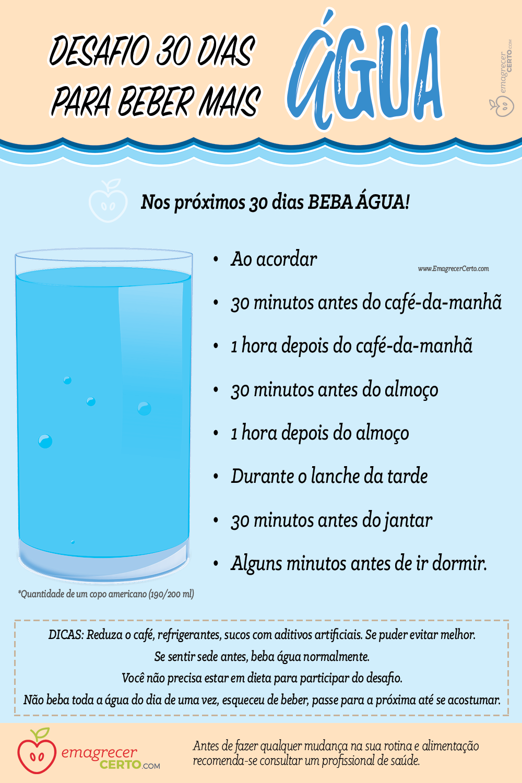 desafio 30 dias agua blog emagrecer certo