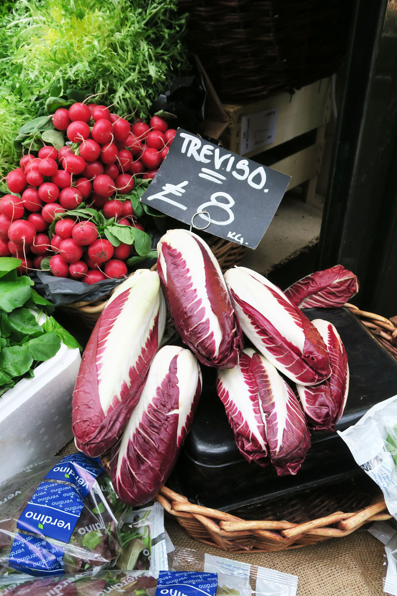 borough market london vegetable treviso