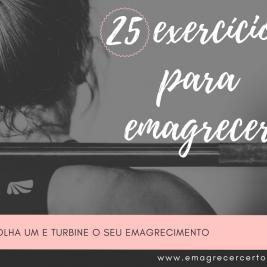 25 exercicios para emagrecer