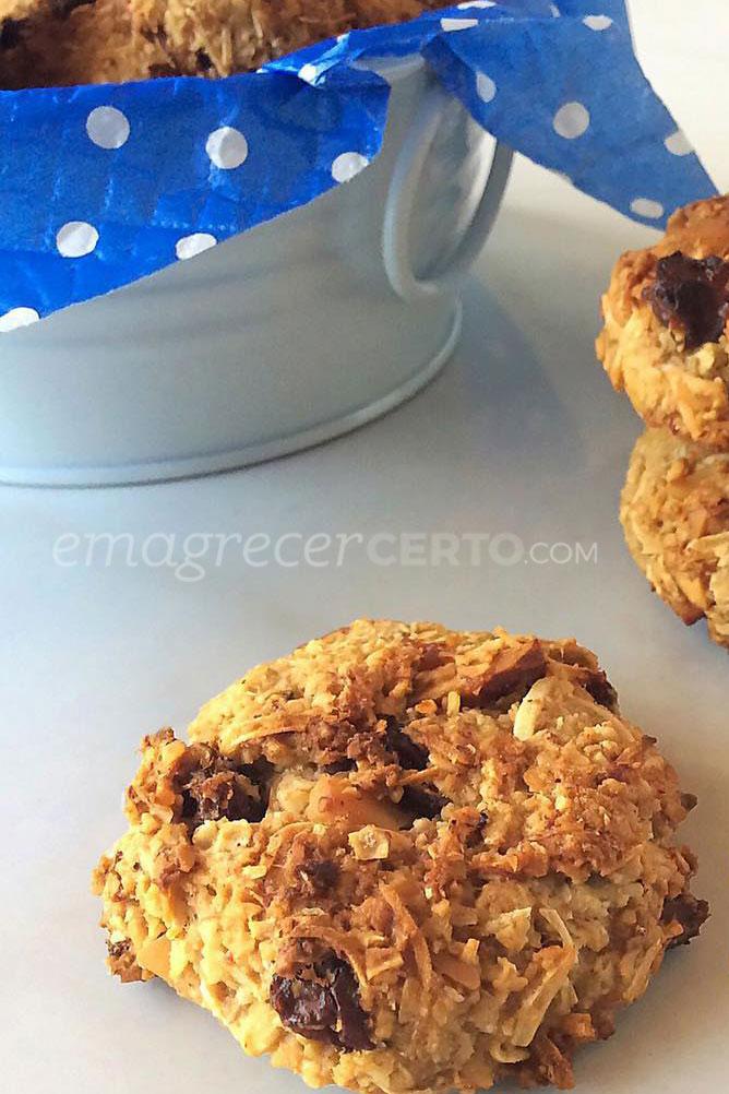 Cookies veganos sem açúcar