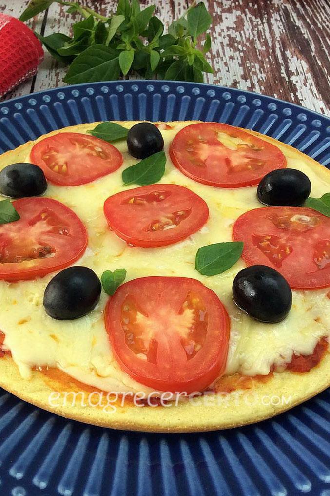 Pizza marguerita low carb pratica